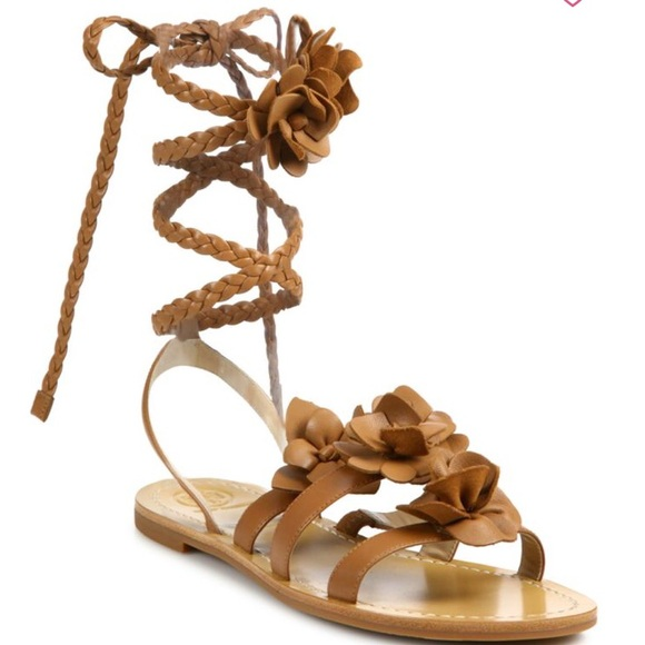 7ce005c45a4cf6 Tory Burch Blossom Gladiator Leather Sandals NWT